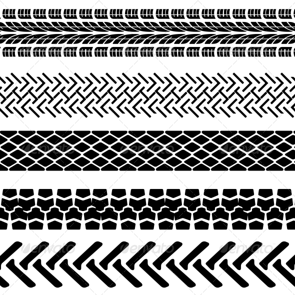 GraphicRiver Set of Detailed Tire Prints 6517183