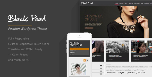Black Pearl - Responsive Fashion WordPress Theme - Portfolio Creative