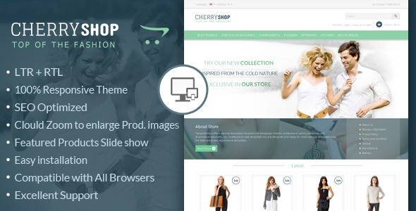 ThemeForest Cherry Shop Responsive OpenCart Template 6517462