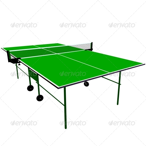GraphicRiver Ping Pong Green Table Tennis 6517486