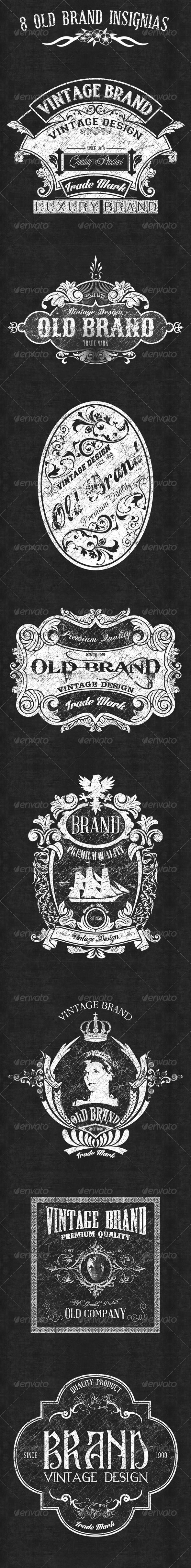 GraphicRiver 8 old Brand Insignias 6475011