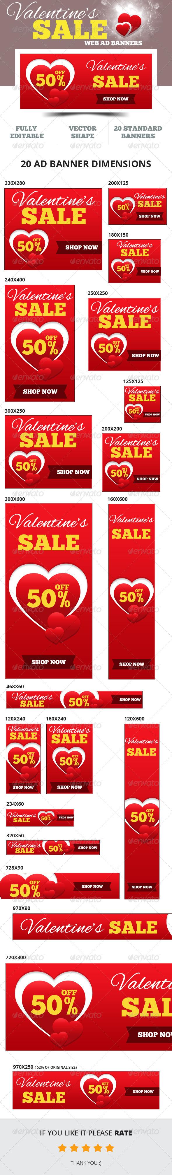 GraphicRiver Valentine s Sale Web Ad Banners 6517490
