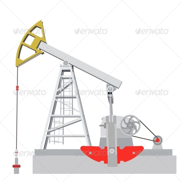 GraphicRiver Oil Pump Jack 6517497
