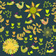 Seamless Pattern with Cartoon Bird