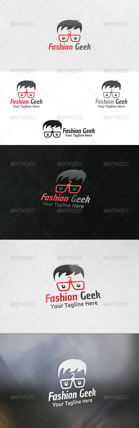 GraphicRiver Fashion Geek Logo Template 6517603