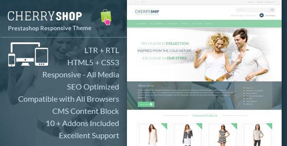 ThemeForest Cherry Shop Responsive Prestashop Template 6517612