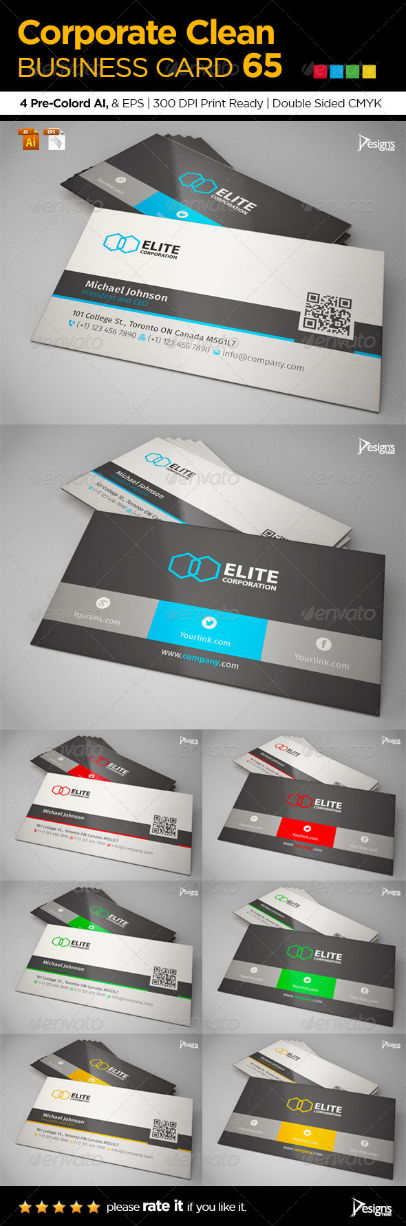 GraphicRiver Corporate Clean Business Card 65 6517852