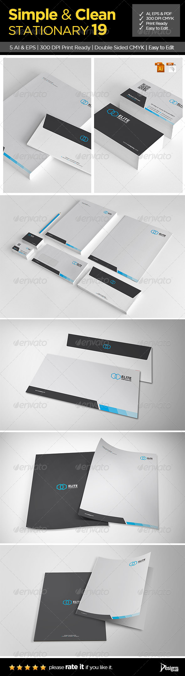 GraphicRiver Simple and Clean Stationary 19 6517864