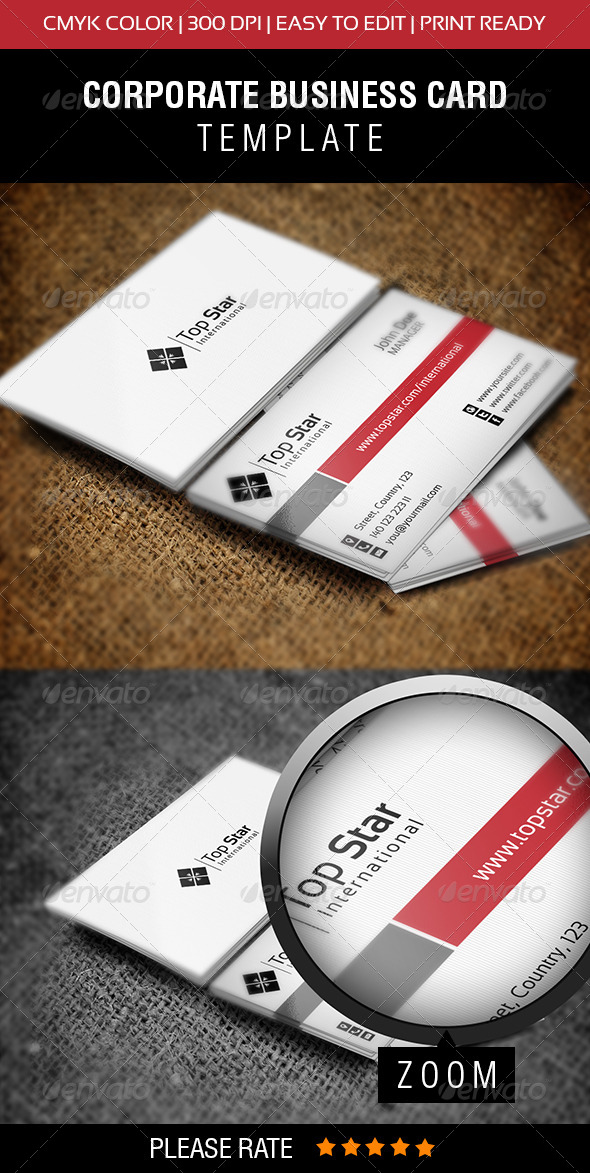 GraphicRiver Top Star Business Card 6518202