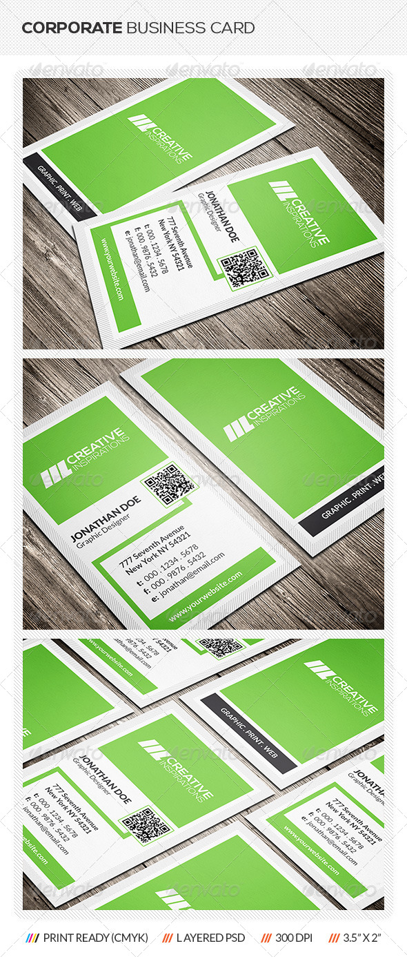GraphicRiver Corporate Business Card 6518422