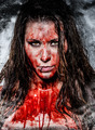 a scary bloody horror girl - PhotoDune Item for Sale