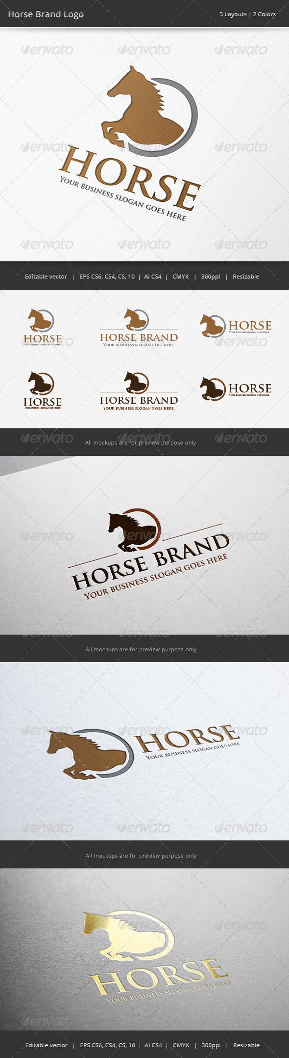 GraphicRiver Horse Brand Logo 6518635