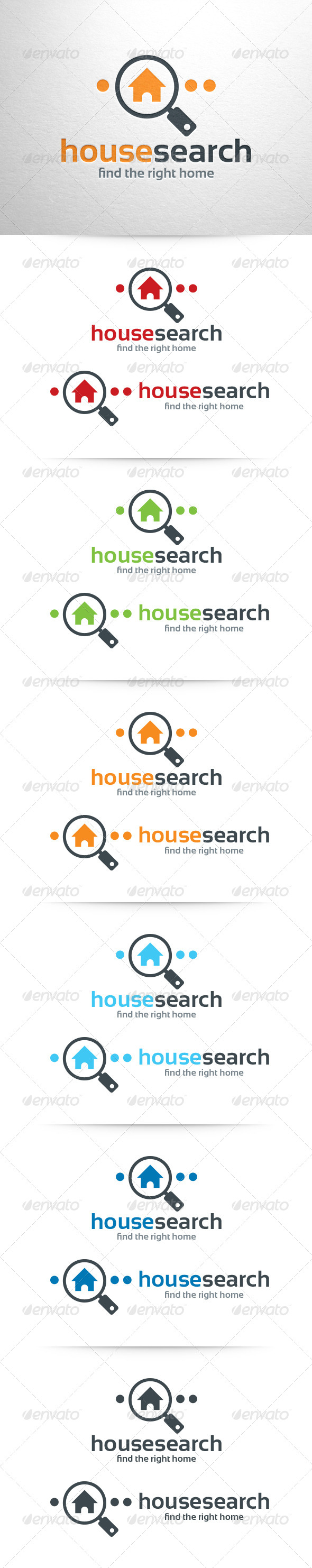 GraphicRiver House Search Logo Template 6518687