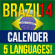 Brazil14 Match Schedule in 5 languages - GraphicRiver Item for Sale