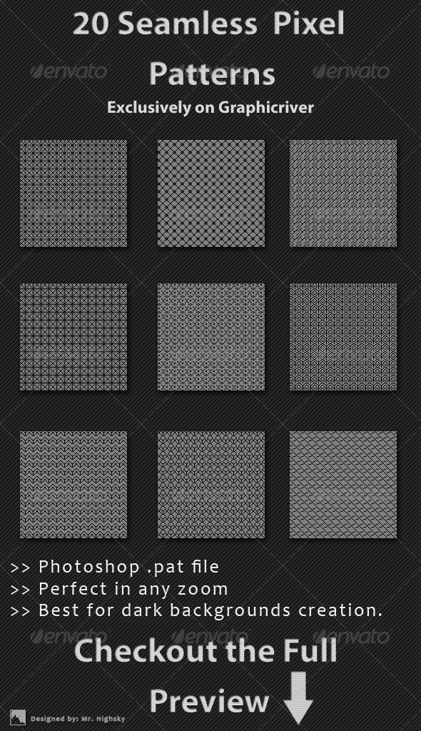 GraphicRiver 20 Seamless Pixel Patterns 6518706