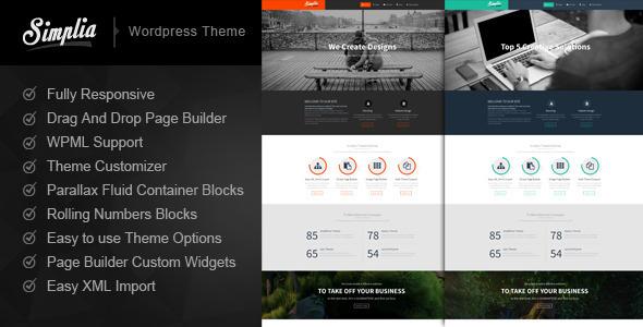 ThemeForest Simplia Multi Purpose WordPress CMS Theme 6430327
