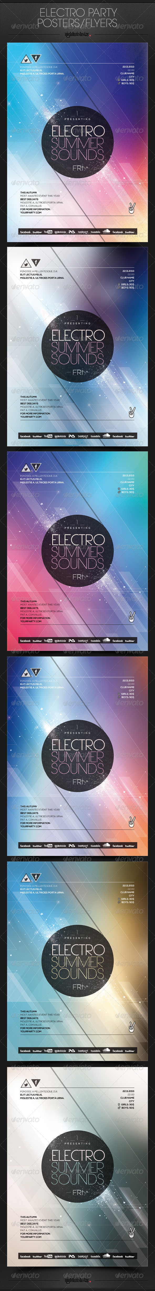 GraphicRiver Electro Party Poster Flyer 6518769
