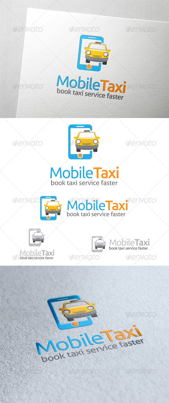 GraphicRiver Mobile Taxi Logo 6518806
