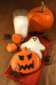 Halloween cookies with milk - PhotoDune Item for Sale