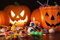 Closeup of candies with pumpkins - PhotoDune Item for Sale