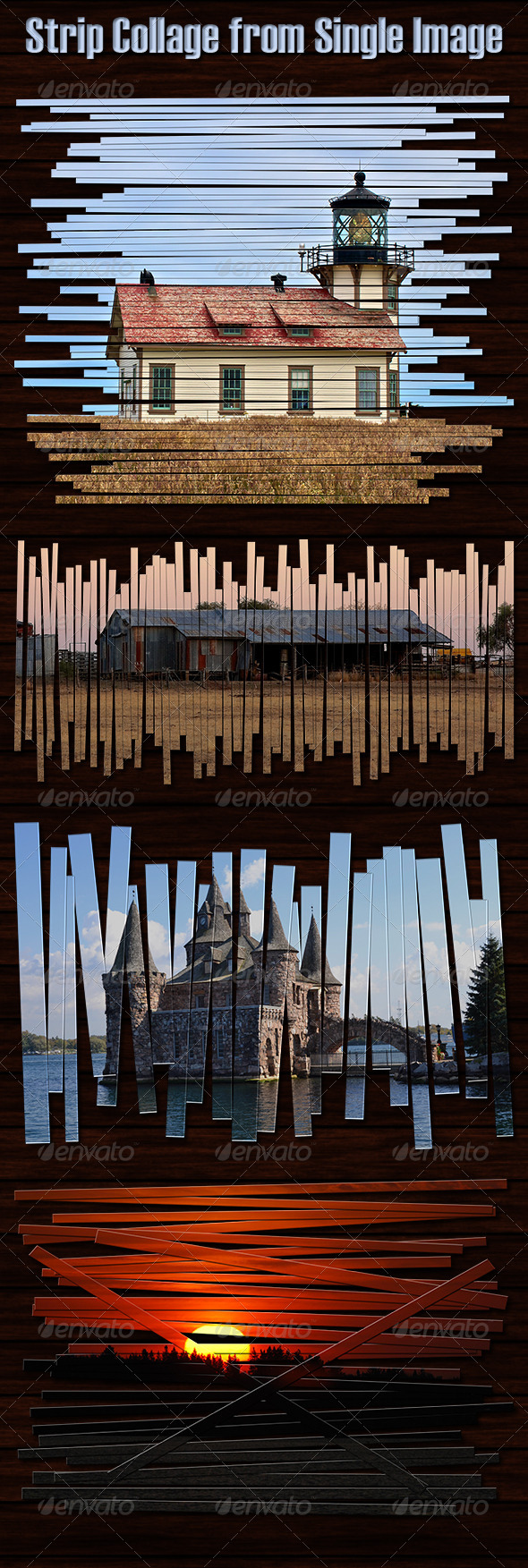 GraphicRiver Strip Collage from Single Image Photoshop Actions 6519251