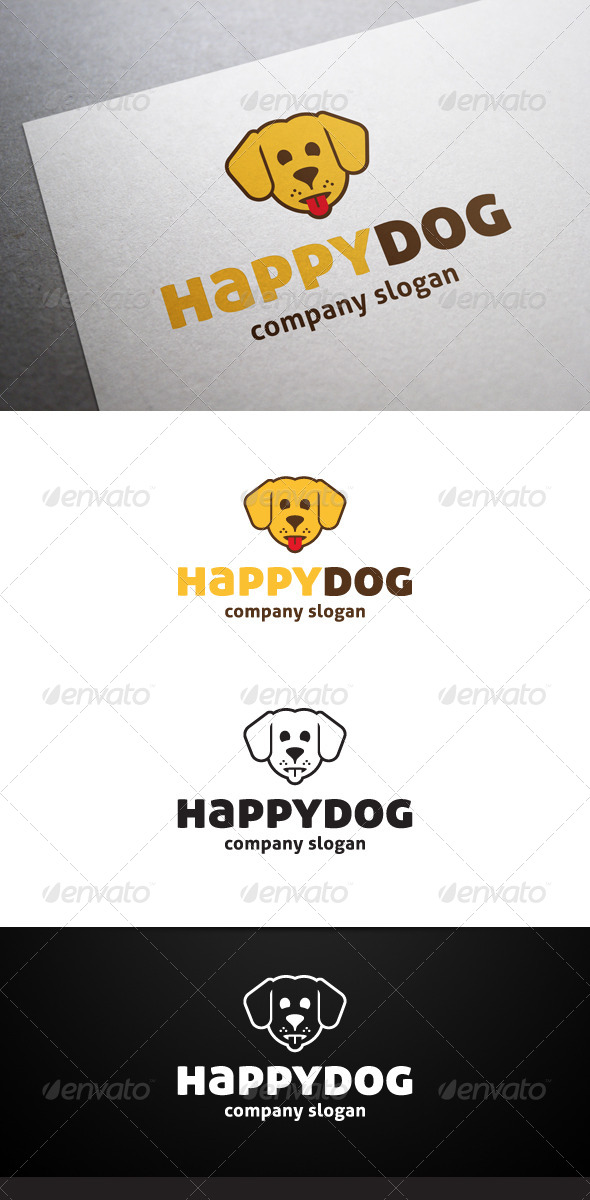 GraphicRiver Happy Dog Logo 6519532