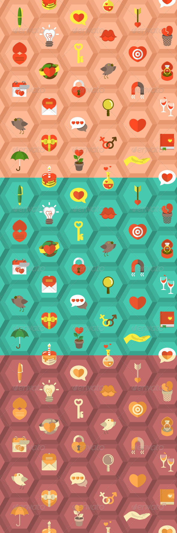 GraphicRiver Love Pattern 6519545