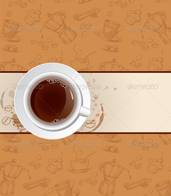 GraphicRiver Coffee Background and Cup 6519560