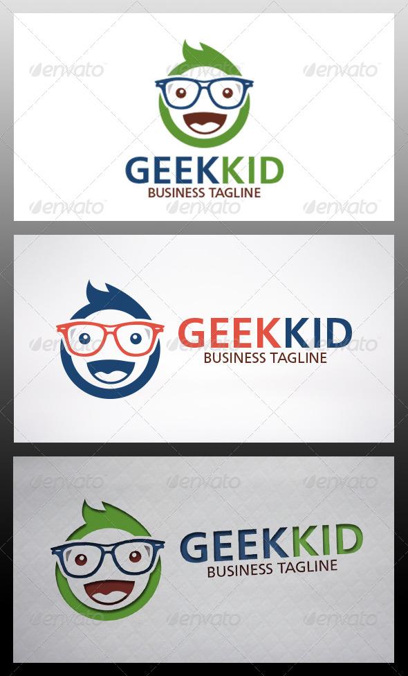 GraphicRiver Geek Kid Logo 6519562