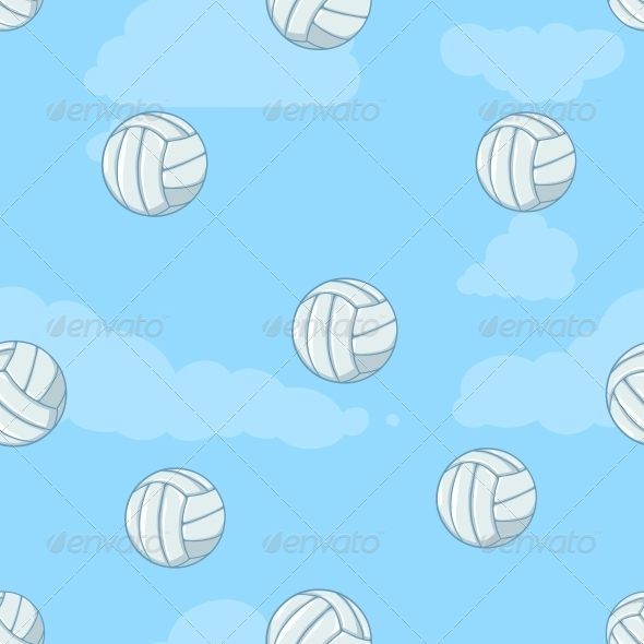 GraphicRiver Seamless Pattern of Volleyballs 6519592