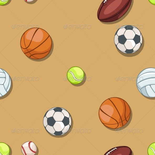 GraphicRiver Seamless Pattern of Sport Balls 6519599