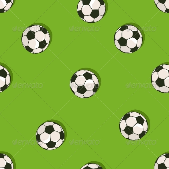 GraphicRiver Seamless Pattern of Soccer Balls 6519616