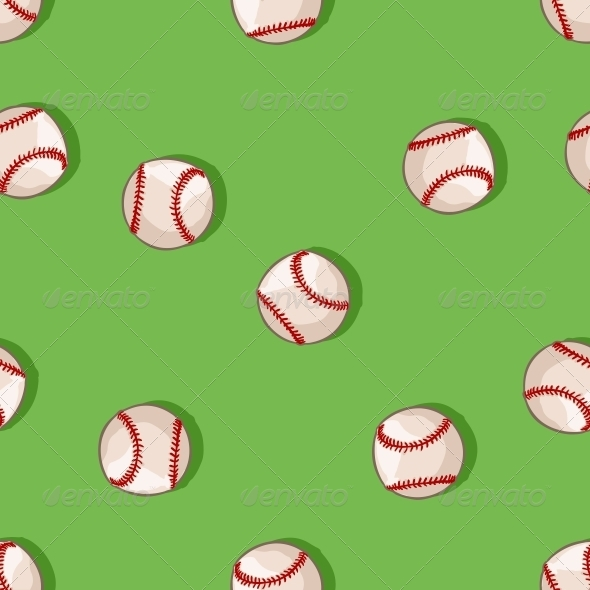 GraphicRiver Seamless Pattern of Baseballs 6519624