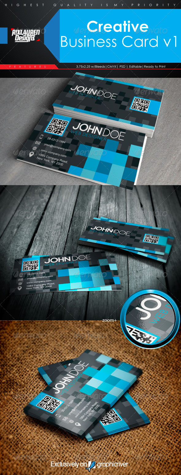 GraphicRiver Creative Business Card V1 6493779