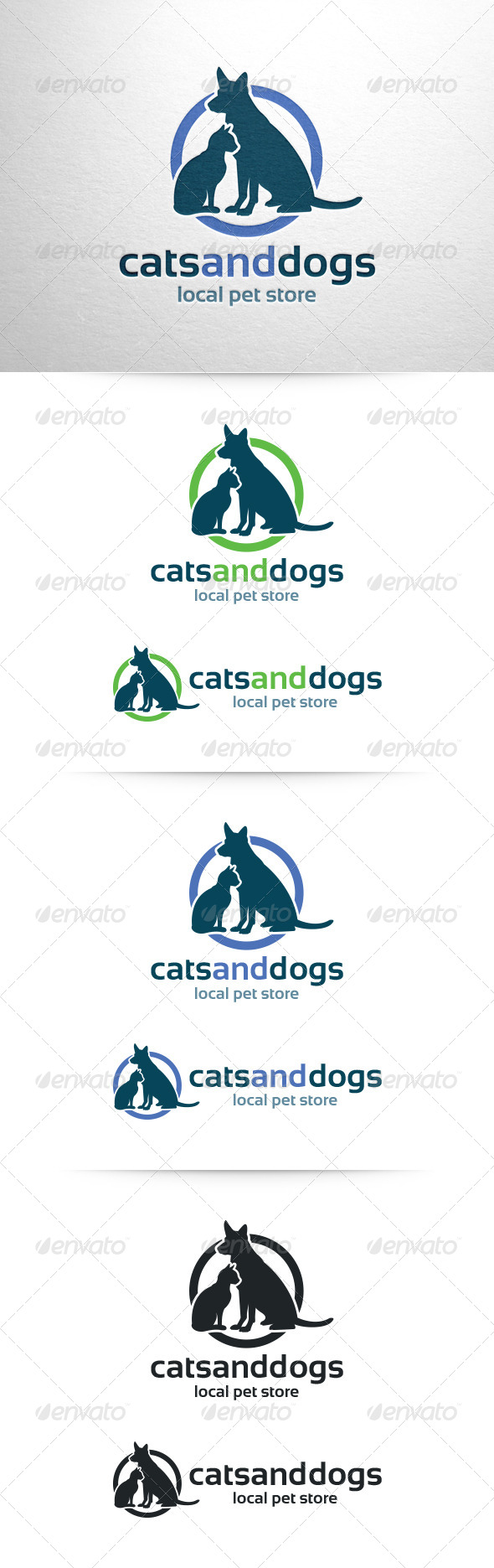 Cats and Dogs Logo Template