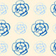 Vintage Seamless Pattern with Blue Flowers  - GraphicRiver Item for Sale