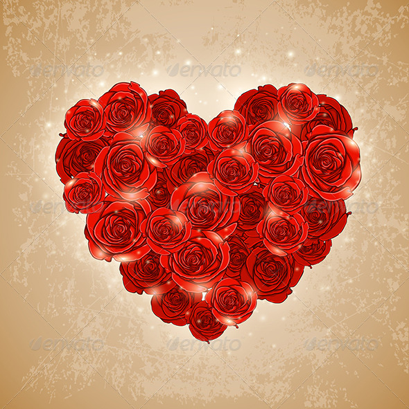 GraphicRiver Heart of Rose for Valentine s Day 6520904