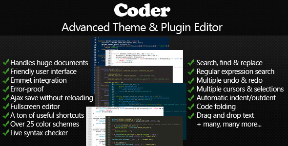 CodeCanyon Coder Advanced Theme & Plugin Editor 6497282