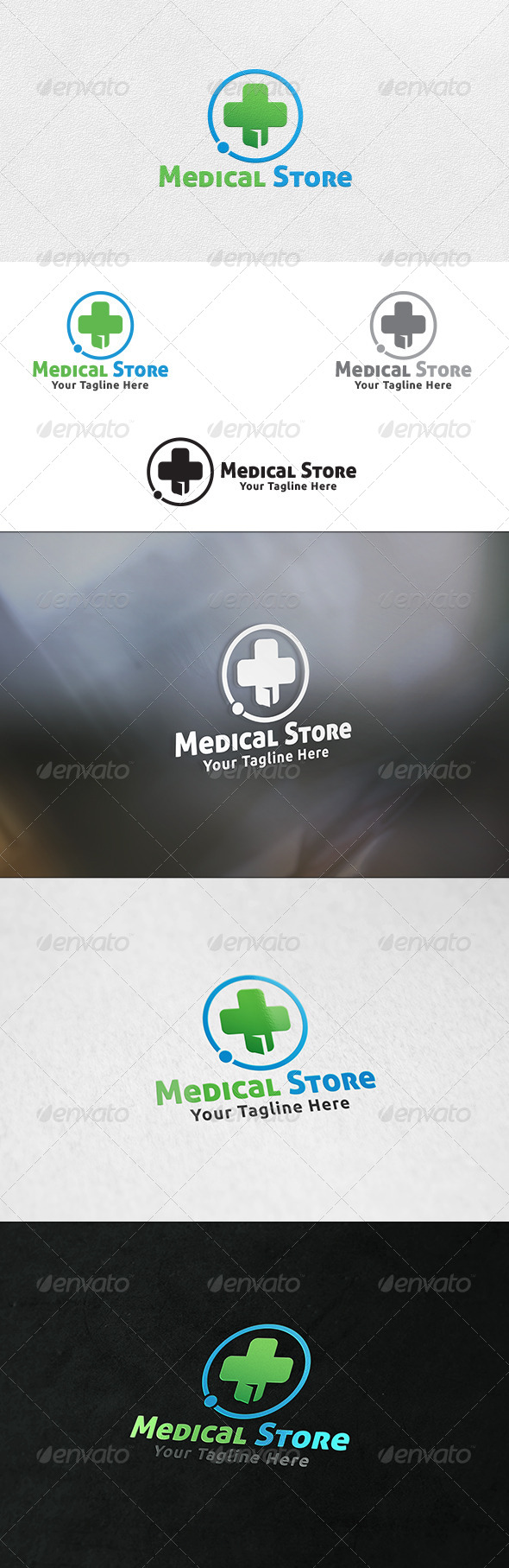GraphicRiver Medical Store Logo Template 6521056