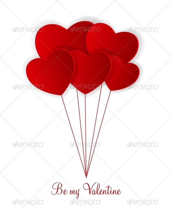 GraphicRiver Happy Valentines Day Card with Hearts 6521952