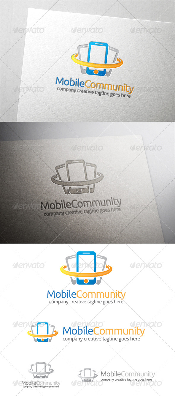 GraphicRiver Mobile Community Logo 6522003