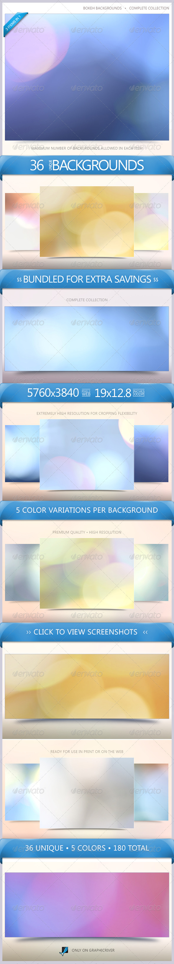 GraphicRiver Bokeh Backgrounds Bundle 6522244