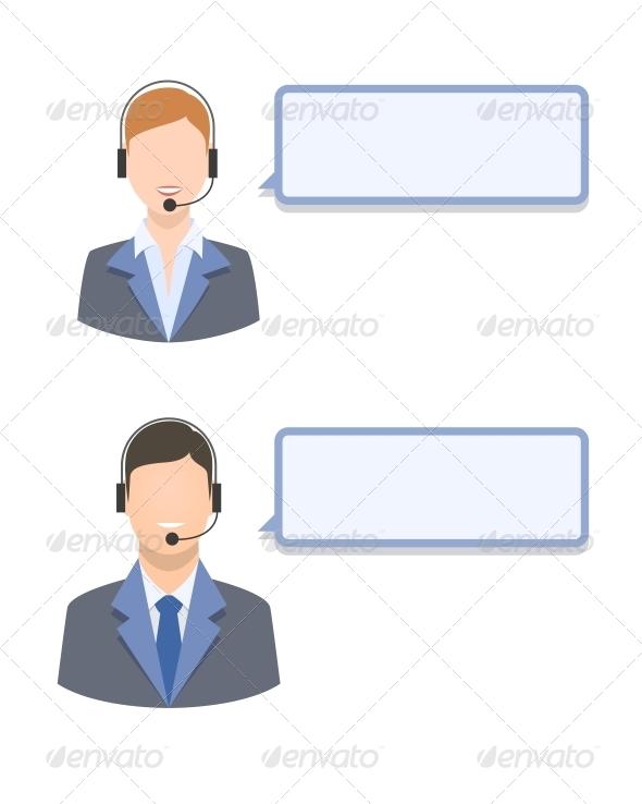 GraphicRiver Call Center Agents 6522603