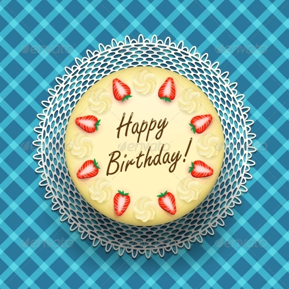 GraphicRiver Birthday Cheesecake with Strawberries 6522641