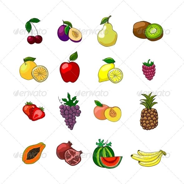 GraphicRiver Fruits Icons Set 6522674