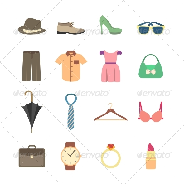 GraphicRiver Fashion and Clothes Accessories Icons 6522676
