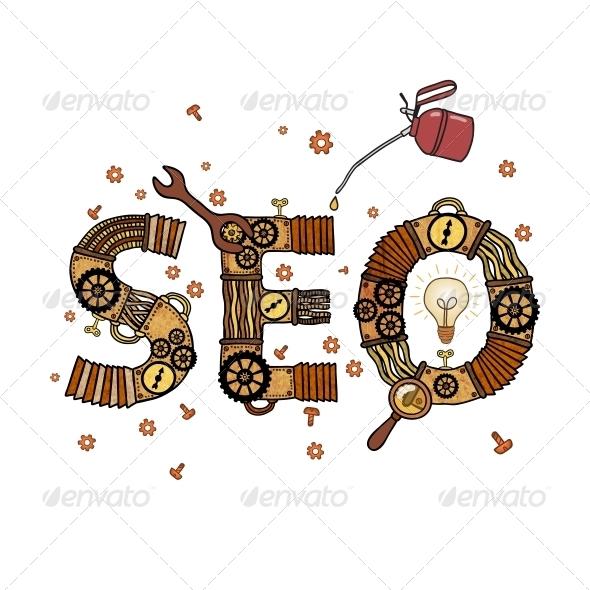 GraphicRiver SEO Concept Retro Symbol 6522679