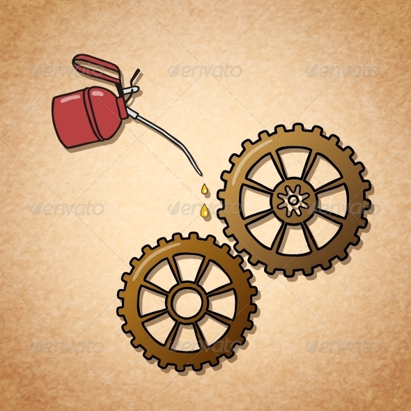 GraphicRiver Smoothly Spinning Gears Symbol 6522688