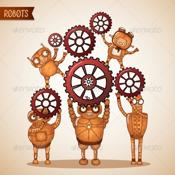 GraphicRiver Teamwork Concept with Cogs and Gears 6522692