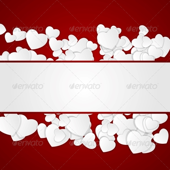GraphicRiver Happy Valentines Day Card with Hearts 6522803